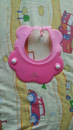小木对点 儿童洗头帽婴儿浴帽防水护耳儿童浴帽宝宝硅胶加厚柔软洗发神器洗澡帽可调节 粉色 晒单图