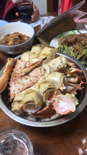 【活鲜】鲜活帝王蟹买进口阿拉斯加帝皇蟹约2000g/只野生皇帝蟹长脚蟹活鲜大螃蟹 晒单图