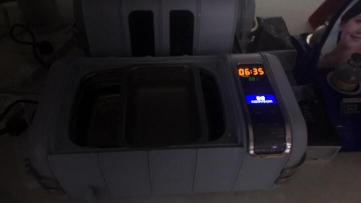 康得森超声波清洗机CD-4821眼镜珠宝五金清洗器加热装置304不锈钢桶2.5L商用家用 气质灰 晒单图