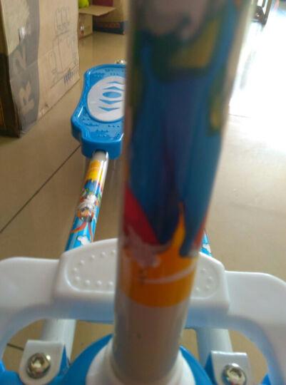 蛙式儿童滑板车儿童四轮闪光轮三轮可折叠儿童踏板车 男女童 蓝色三轮单刹带音乐 晒单图