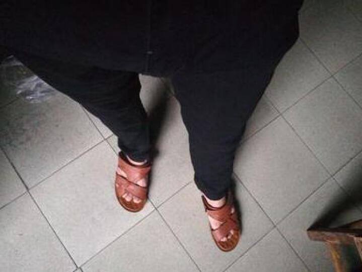 MBA牛仔裤男修身黑色2019春夏新款学生紧身弹力铅笔裤男士小脚裤韩版 黑色 30码-2.31尺 晒单图