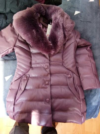 尧艾魅 羽绒服女2017冬季新款韩版修身轻薄显瘦大码女装时尚中长款长外套女 9131 深紫色《无货》 2XL 晒单图