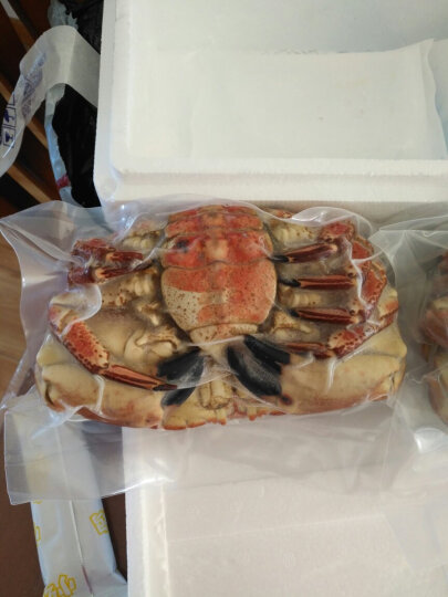 海购时代 英国熟冻面包蟹黄金蟹 600-800g袋装 晒单图