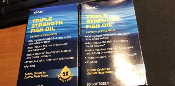 健安喜(GNC)三倍浓缩鱼油软胶囊 DHA&EPA深海鱼 60粒 调节血管血脂健脑益智改善视力 晒单图