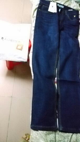 花花公子牛仔裤男    加绒加厚男士弹力修身直筒裤 休闲裤子男 9123蓝色基本款 32 晒单图