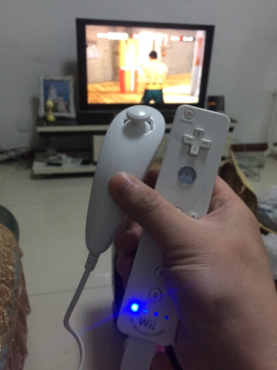 翡乐 任天堂游戏机wii游戏手柄套装带内置加速器 wii右手柄+左手柄鸡腿 模拟器双节 wii左+右手柄套装 晒单图