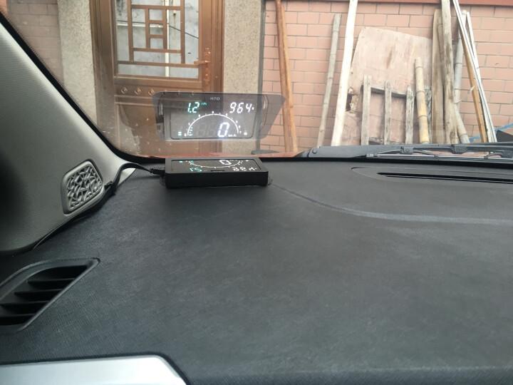 HUD抬头显示器OBD汽车平视仪表盘投影仪车载车用速度转速电压水温油耗显示器通用 晒单图