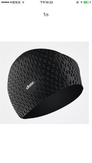 希途(Citoor) 游泳帽长发防水硅胶男女士加大泡泡水滴护耳帽子C2Y17 黑色 晒单图