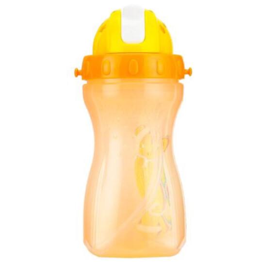 乐儿宝(bobo)儿童吸管杯 学生防漏水杯便携杯带水壶(400ml橙色) 晒单图