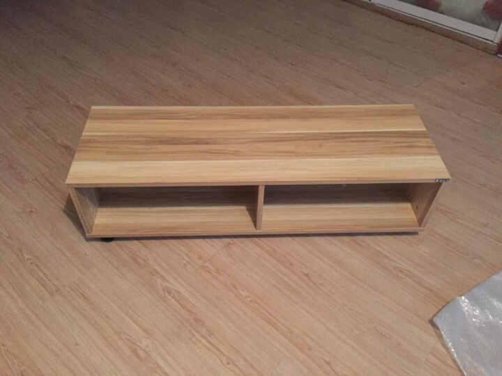 美达斯 电视柜 贝克Z120小户型日式可移动地柜 客厅环保简约储物柜子 浅胡桃木色 晒单图