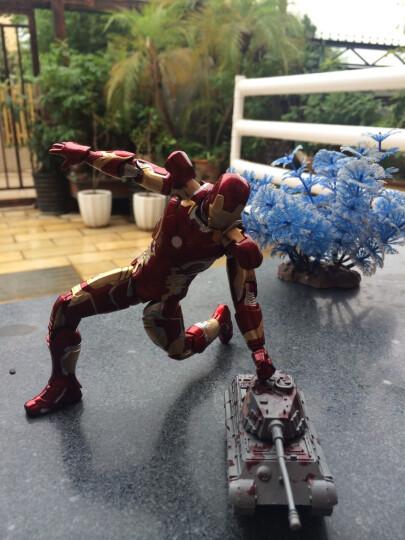 媛之梦(Zshdm) 复仇者联盟钢铁侠模型玩具MK42MK43MK6托尼公仔生日礼物 MK42土豪金盒装 晒单图