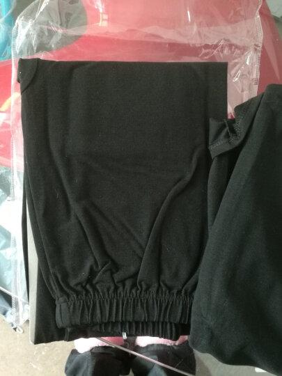 女士棉质半高领薄款秋衣秋裤打底基础内衣线衣线裤保暖内衣套装女 黑色 加大款 晒单图