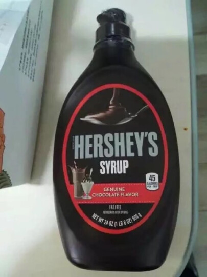 【巧厨烘焙】 进口好时黑巧克力酱 蛋糕装饰咖啡奶茶甜品原料680g 晒单图
