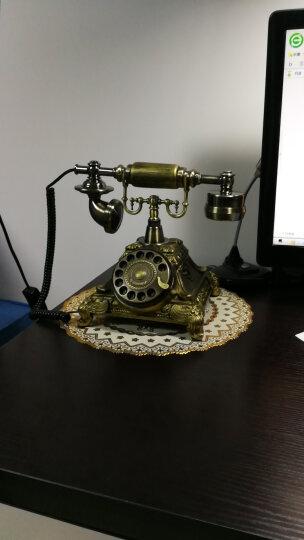 安斯艾尔 家庭时尚创意来电显示仿古电话机座机复古欧式老式古典电话 复古转盘-单铃 晒单图