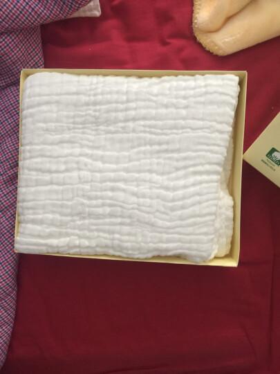 全棉时代(PurCotton)礼盒装新生儿纱布浴巾5层115*115cm 1片/盒 晒单图