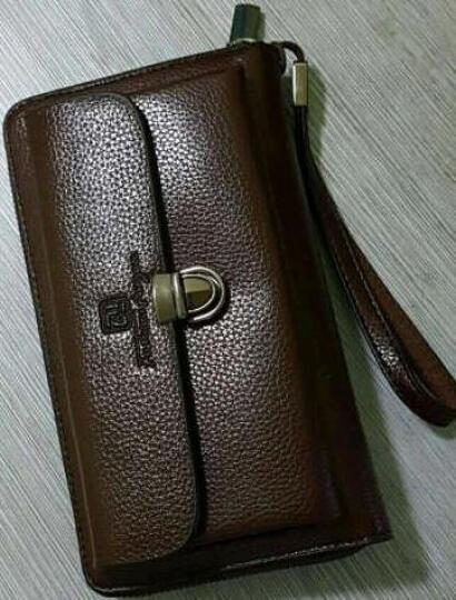 梵士汇(F4Y)JS-4111 男士钱包 商务休闲钱夹超多卡位多功能长款手拿包 黑色 晒单图