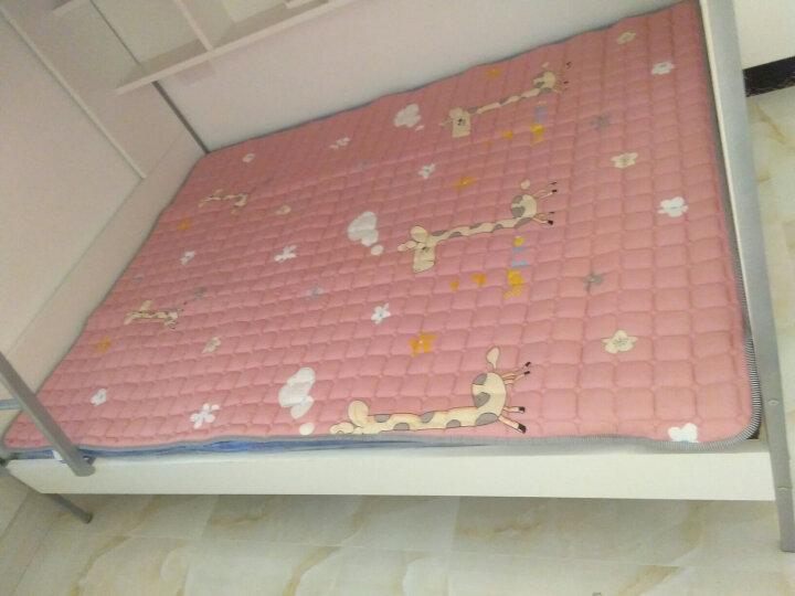 全棉单 双人床褥 褥子可折叠床垫薄榻榻米防滑垫被 柔软床垫 温玉林家纺 尺寸可定制定做 小怪兽(带防滑颗粒1cm厚) 双人床垫1.8m*2.0m 晒单图