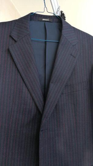 庄吉judger 西服男外套  商务休闲条纹男士羊毛西服上衣 中年单西装外套 宽松大码便西服单件上衣 5号西服两粒扣 175/50B 晒单图