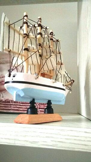 珊曼 地中海木船一帆风顺帆船模型家居客厅书房创意装饰工艺品摆件 14cm颜色随机 晒单图
