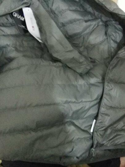 Vancl凡客诚品羽绒服 新款保暖外套  冬季连帽羽绒 轻薄百搭羽绒 轻暖95绒 男款 丛林绿色 S 晒单图