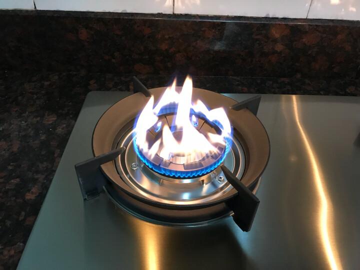 唯开(vvk) 嵌入式燃气灶液化气天然气双灶 炉灶煤气炉 台嵌两用炉具炉灶 k123-磨砂银不锈钢面板 液化气 晒单图