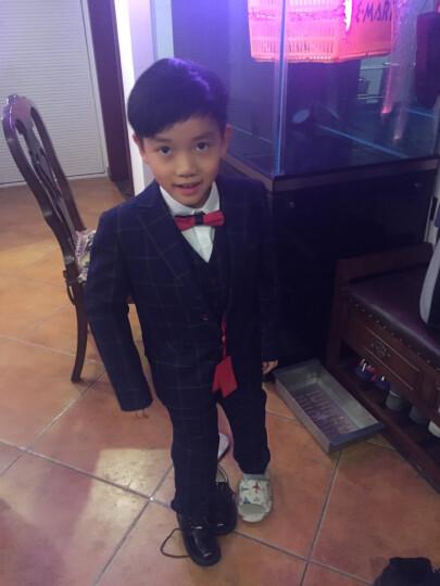 ELPA 儿童皮鞋新款男童皮鞋男童鞋黑色皮鞋礼服鞋演出鞋 系带黑色 39 晒单图
