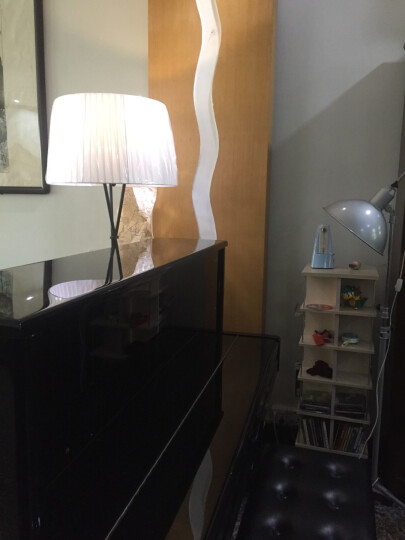 赫曼后现代个性布艺三脚架落地灯客厅卧室装饰台灯酒店工程时尚艺术灯具 红色 LF5落地灯 晒单图