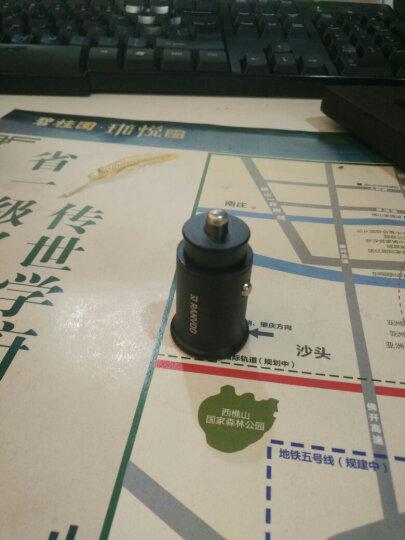 锐舞(RANVOO) 车载充电器 汽车点烟器一拖二4.8A双USB快充车充点烟器转换器 【白色】迷你隐藏版4.8A带氛围灯 12V/24V汽车通用 晒单图