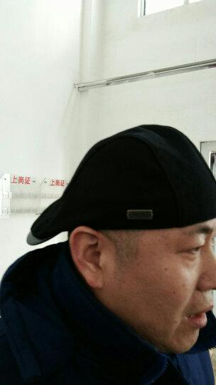 Siggi 帽子男秋冬天韩版潮时尚百搭鸭舌帽羊毛帽纯色贝雷帽画家帽 黑色 均码58cm 可调节帽围 晒单图