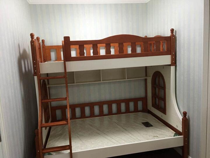 卡菲丽 全实木双层床上下床高低欧式美式组合床 挂梯床不含拖床梯柜 1200*1900 晒单图