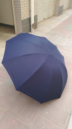 天堂伞 三人大号男士折叠晴雨伞 十骨三折商务太阳伞 可定制广告伞印字logo  33212 藏兰色 晒单图