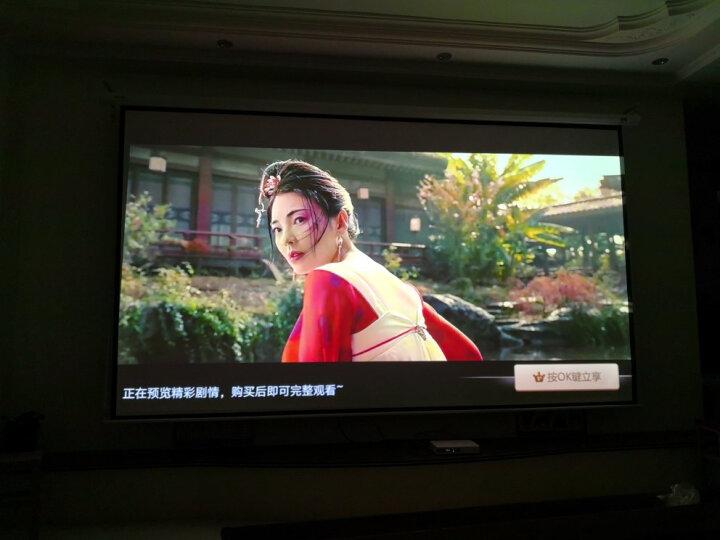 美硕(MEISHUO)电动投影幕布通用投影仪幕布 投影机幕布 办公家用屏幕 400英寸16比9高清白玻纤电动幕 晒单图