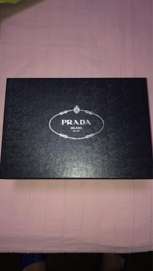 PRADA 普拉达 男士群青蓝牛皮厚底系带织物饰边时尚休闲鞋 2EG015 B4L F073A 7/41码 晒单图