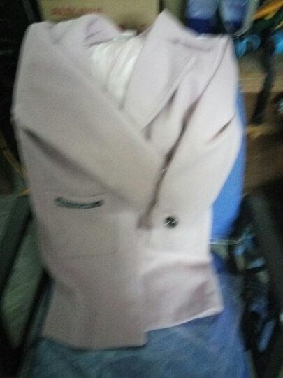 尧艾魅 毛呢大衣女2017秋冬新款女装韩版优雅气质修身毛呢外套中长款风衣外套女 860 灰色 XL《140-160斤》 晒单图