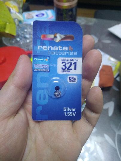 瑞纳达(RENATA) 原装进口手表电池321 SR616SW(SR65)氧化银纽扣电池 晒单图