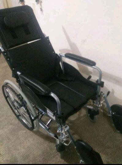 互邦 铝合金轮椅多功能老人看护全躺带座便可拆卸护理型钢管手动轮椅HBL11 护理型实心胎 晒单图