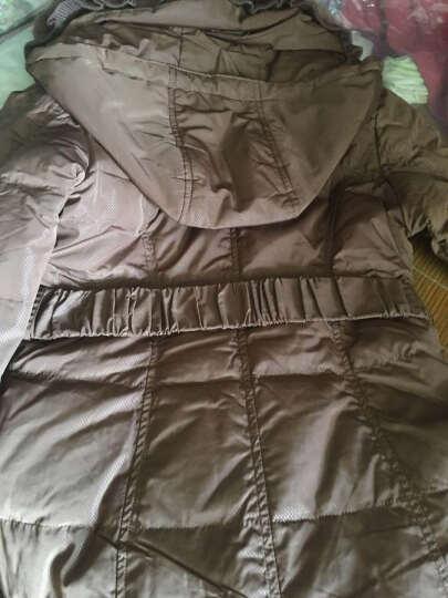 鸭鸭直销|羽绒服中长款女装腰带修身大毛领奢华鸭绒羽绒服女B-235 栗棕 165/88A 晒单图