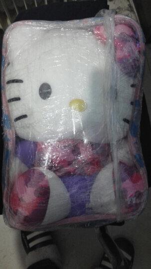 "Hello kitty凯蒂猫 迷彩系列毛绒玩具 软体粒子公仔玩偶 抱枕靠垫布娃娃 13""33厘米 紫色 晒单图"