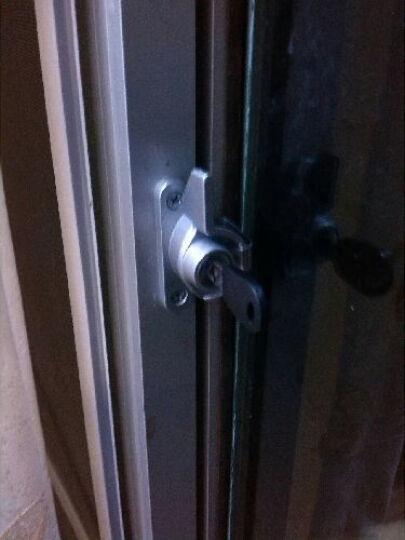 月牙锁带钥匙安全窗户锁塑钢窗锁铝合金推拉窗扣门窗配件 右边 晒单图