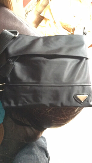 奥提拉(AOTTLA) 男包单肩包商务休闲尼龙男士单肩斜挎包 横款防水男包单肩斜挎帆布包 黑色横款 晒单图