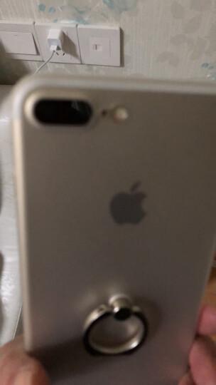洛克(ROCK)苹果7手机壳 iPhone7保护套磨砂全包防摔指环支架硬壳男女通用款 黑色 晒单图