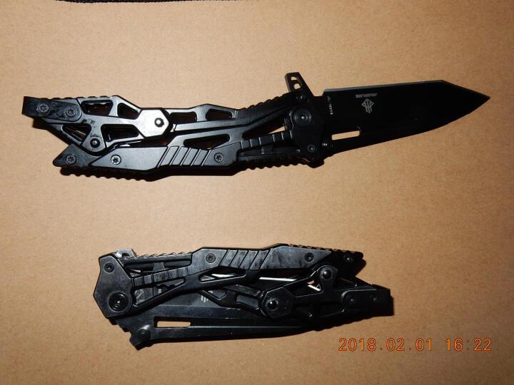 礼品军刀折叠刀军刀小刀高硬度折刀赠品刀随身刀多功能刀具 机械全钢款 晒单图