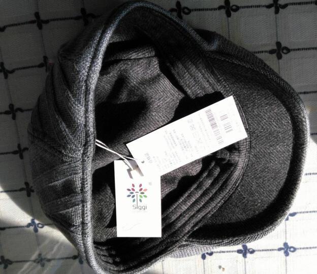 帽子男冬天韩版时尚针织鸭舌帽秋冬贝雷帽画家前进帽 灰色58CM 晒单图