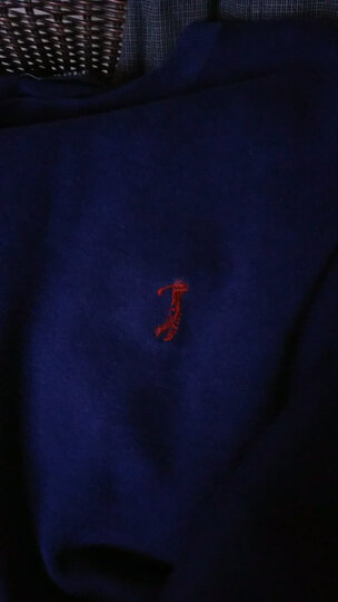 高尔夫(GOLF)2019秋冬新品时尚商务修身圆领毛针织衫男 黑色 170/88(M)_48 晒单图