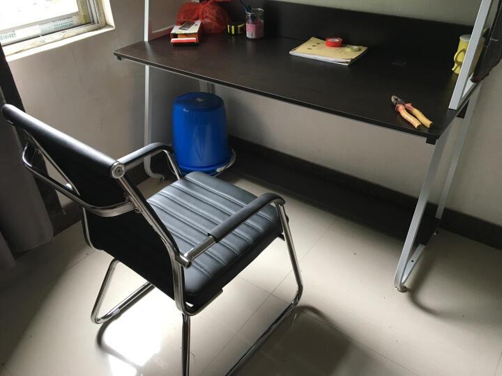 邻舍  电脑椅子 办公椅子家用舒适老板会议椅 人体工学弓形皮椅 黑色 晒单图