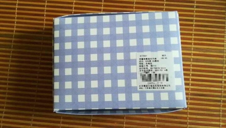 红豆(Hodo)儿童内裤男平角中腰透气中大童95%棉舒适四角裤3条盒装HDK783蓝白色170 晒单图