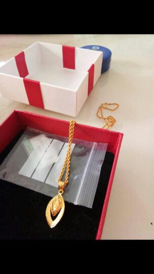 翠绿 黄金吊坠 足金999水滴女士项链坠 金重约2.25-2.45g 晒单图