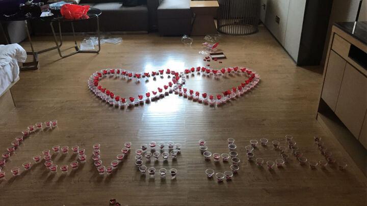 青苇 心形蜡烛玫瑰花瓣 结婚庆生日 情人节 求婚 浪漫组合套装 粉色 晒单图