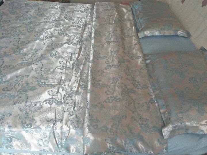 倾梦家纺 床品四件套贡缎提花AB版被套被罩床单欧式婚庆套件1.5/1.8m米床上用品4件套 似水柔情-玫粉 1.8米床/被套200*230cm 晒单图