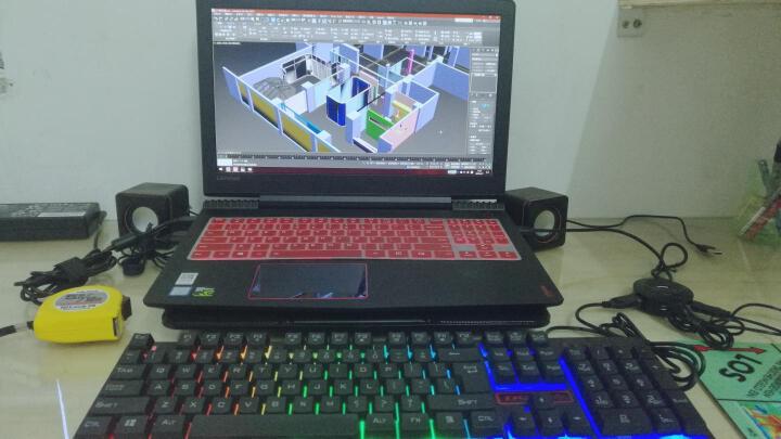 联想(Lenovo)拯救者R720 15.6英寸游戏笔记本电脑(i7-7700HQ 8G 1T+128G SSD GTX1050 2G IPS)黑 晒单图